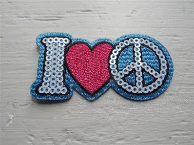 Motif thermocollant I love peace