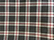 Grey and red Viyella tartan