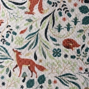 Foxes fabric, coll. Fawned of you