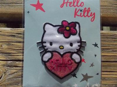 Motif thermocollant Hello Kitty avec coeur