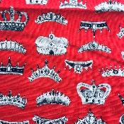Tissu coll Londres - couronnes royales