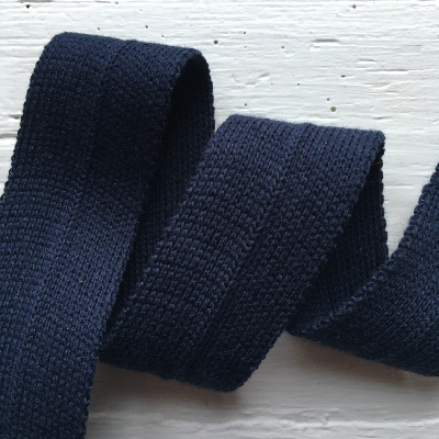 Navy blue pre-folded jersey band