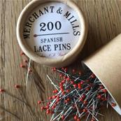 Spanish lace pins