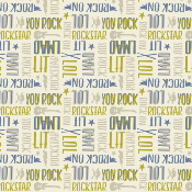 Tissu collection rock on - 2 Textes