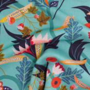 Viscose turquoise, collection Gardenia