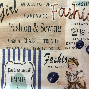 Sewing theme fabric from Yuwa