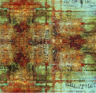 Tissu Abandoned Rusted patina de Tim Holtz