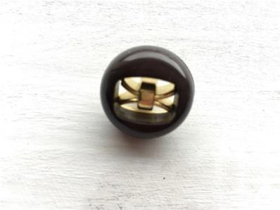 Boutons Marron 18 mm