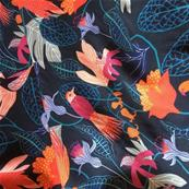 Viscose fuschia, collection Gardenia