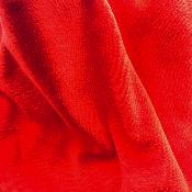 Jersey Velours stretch rouge