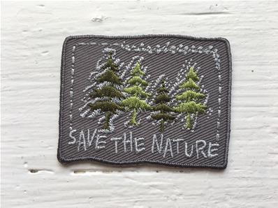 Motif thermocollant save the nature