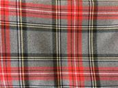 Red and grey Karo tartan