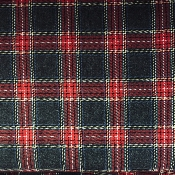 Tartan Highlands gris - rouge