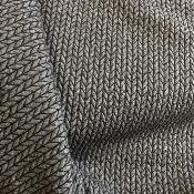 Jersey jacquard big knit anthracite