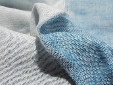 Double gaze chambray bleu jean