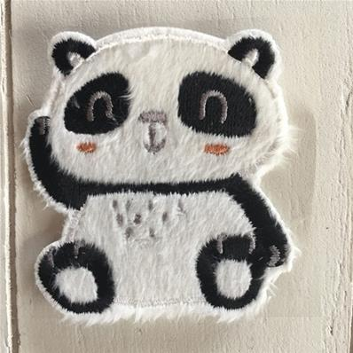 Motif thermocollant panda assis