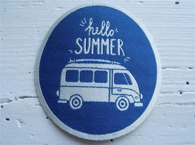 Motif thermocollant Hello Summer - Van