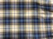 Pale grey and blue Viyella tartan